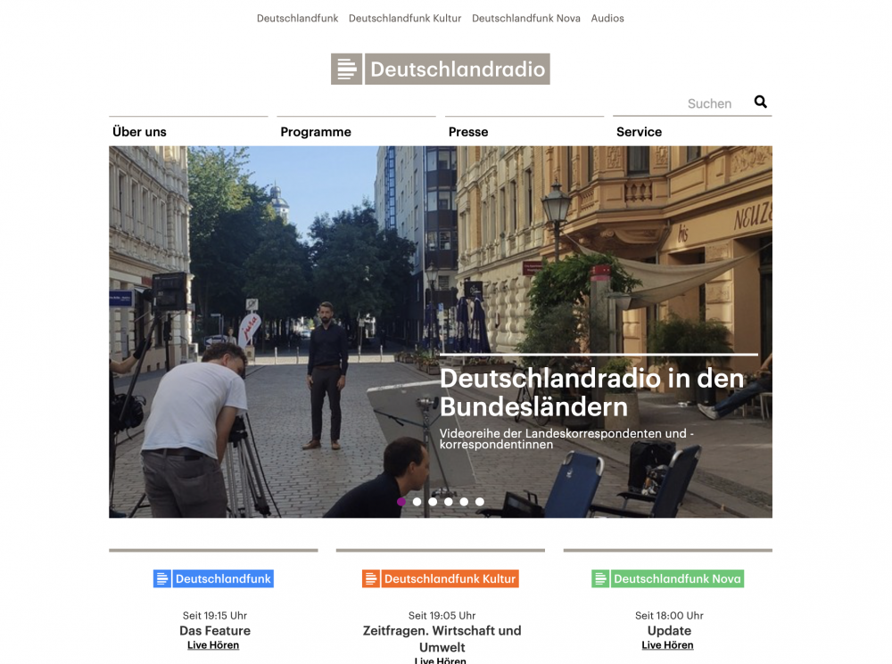 Vorschaubild für Deutschlandradio # In den Bundesländern